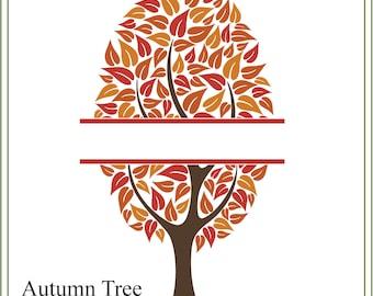 Tree svg, Split tree svg, wedding svg, nature svg, family tree svg, tree illustration, greeting cards, signs, iron on tree, printable