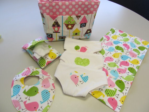 Doll diaper bag and accessories / PDF pattern / Sewing instructions ...