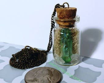 Custom bottle necklace; made to order