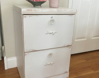 File Cabinet, Shabby Chic, Cottage Chic, Linen