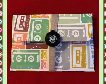 Music record / tape gift card holders / message envelope | vinyl | music | money wallet | DIY coupon | voucher holder | thank you