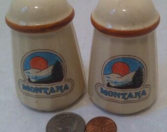 Vintage Salt and Pepper Shakers, Set of Vintage Salt & Pepper Shakers, Montana, Old Fashioned Shakers