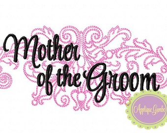 Mother of the Groom Damask Machine Embroidery Design