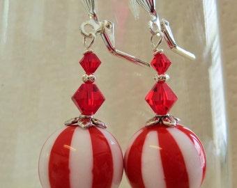 Peppermint Candy boucles d'oreilles - Boucles d'oreilles de vacances