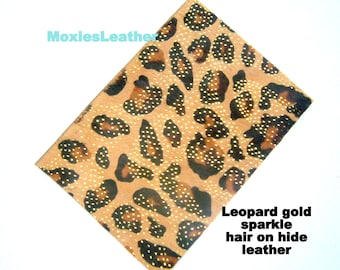 leather pieces- hair on hide print leather - leopard and zebra print leather - leather hide with hair on -