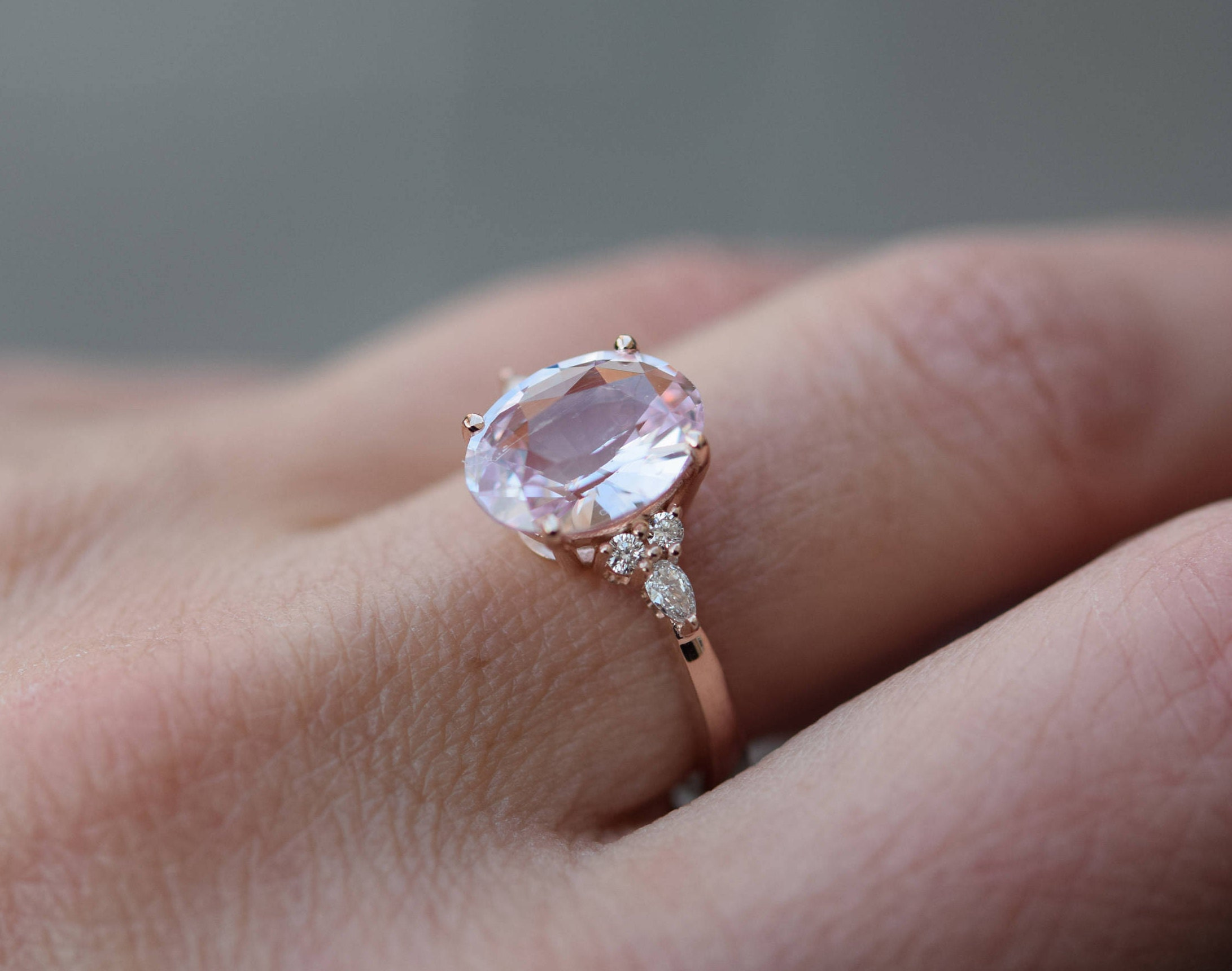 sapphire ring zoom solid dainty light gold pink fullxfull rings natural unheated il listing
