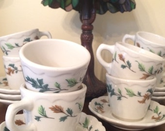 Syracuse China Set of 8 Cups & Saucers