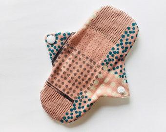 "Organic 7"" Cotton Cloth Panty Liner, Cloth Pads, Mama Cloth, Mama Pads, Reusable Washable Cloth Pads, Moon Pads"