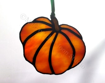 Stained Glass Pumpkin - Medium Short