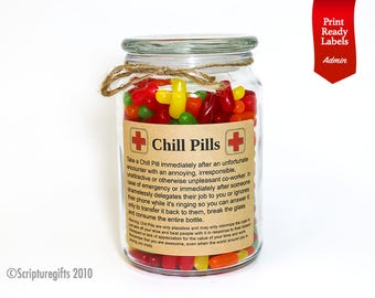 Funniest Personalized Chill Pills for Office/ Admin