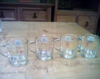 Four 1984 olympics McDonalds Mugs