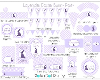 Lavender Easter Bunny Party Printable Package