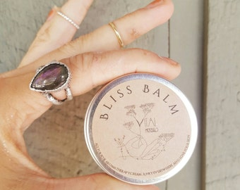 Bliss Balm , organic vetiver lime geranium vanilla balm, stress relieving balm, calming cream
