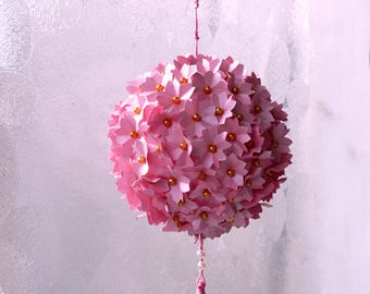 Sakura Flower Ball. Origami