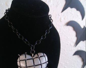 Hellraiser inspired heart necklace