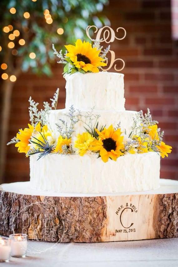 16 STUMP Rustic Wood Tree Trunk Slice Wedding Cake Base - Wedding Cake Tree Bark