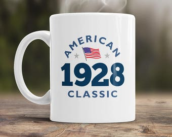 90th Birthday, 1928 Birthday, 90th Birthday Gift, 90th Birthday Idea, American Classic 1928, 90th Birthday Present for 90 year old!