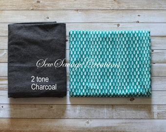 Teal with White Drops Maxaloone Pants