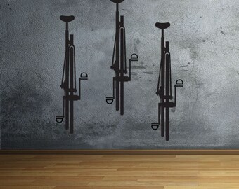 Bike Wall Decal Set of 4