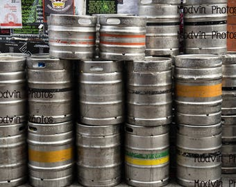 Metal beer Keg Photograph, Modern Art Photo, Beer keg Photo, Beer Tap