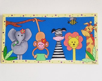 Safari Friends Canvas