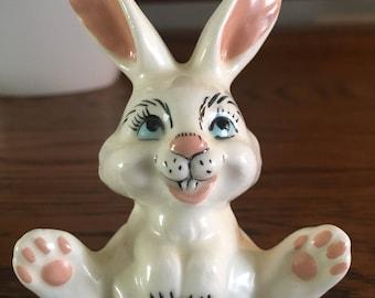 Vintage White Rabbit Figurine