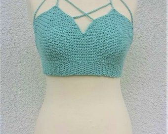 Halter Top Crochet, Crochet Crop Top, Crochet Top, Boho Clothing, Crop Tops for Women, Crochet Top Women, Crochet Bralette, Tops for Women