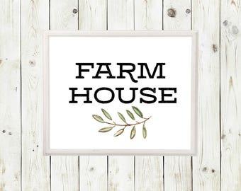 Farmhouse Decor | Farmhouse Sign | Farmhouse | Farmhouse Wall Decor | Farmhouse Art | Farmhouse Art Prints  Farmhouse Artwork| Rustic decor