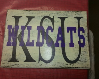 KSU Wildcats Hand-painted Sign