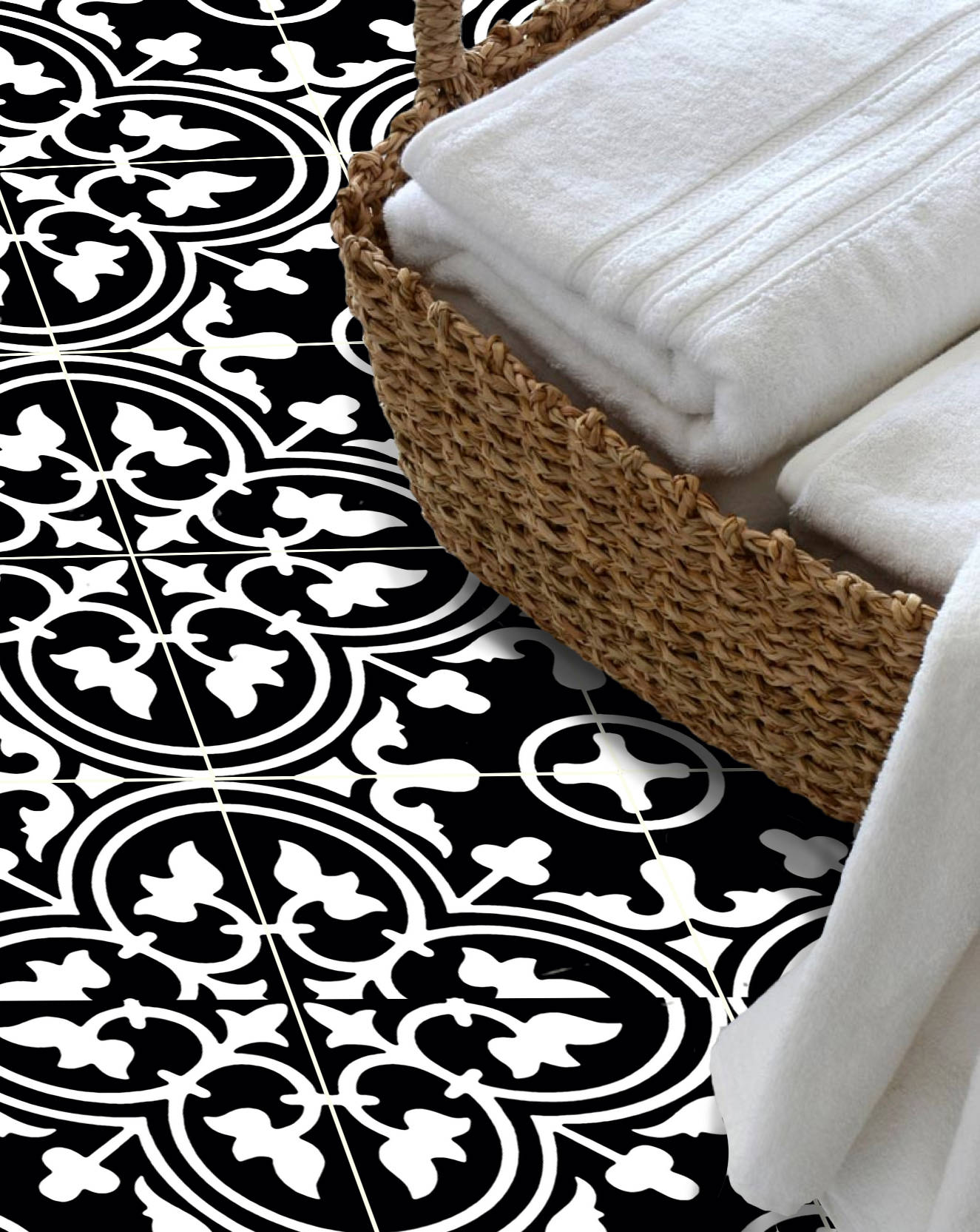Floor tile stickers vinyl decal waterproof removable for zoom dailygadgetfo Image collections