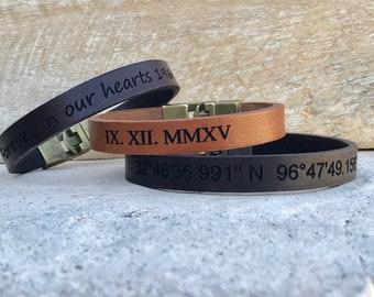 FREE SHIPPING-Bracelets For Men,Customized Men Bracelet, Mens Bracelet,Men Leather Bracelet,Men Personalized Bracelet,Men's Bracelets,Men's