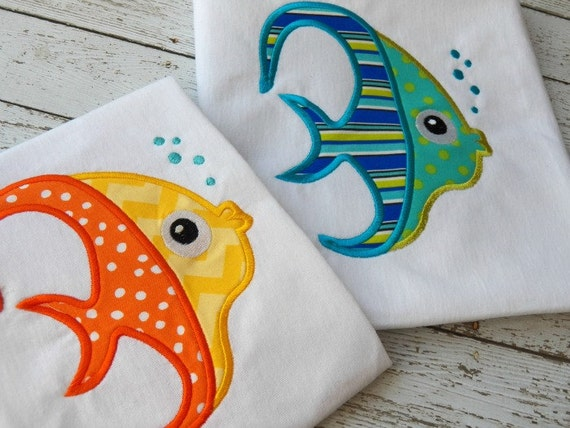 Tropical Fish Machine Embroidery Design