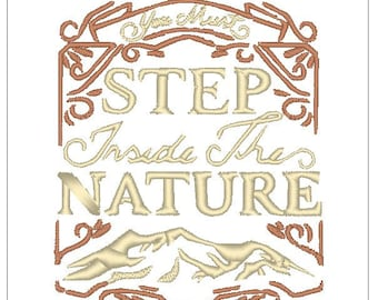 Step into nature Camping outdoor embroidery pattern download for Machine Embroidery for 4X4 hoop
