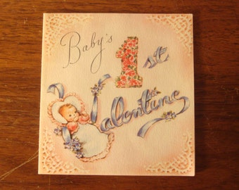 1940s USED Card, Valentine, no envelope