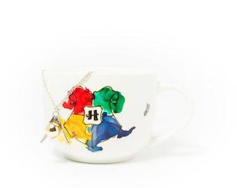 Coffee/tea mug inspired by Harry Potter (Hogwarts/Hogwarts model)