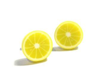 Lemon Slice Earrings