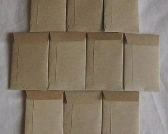 "100 Tiny Brown Coin Envelopes - Tiny Coin Seed Envelopes - Tiny Confetti Envelopes - Tiny Wedding Coin Envelopes - 2"" x 1 1/4"""