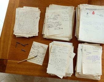 Bundle of 1920s solicitor's correspondence. Vintage paper ephemera. 3 sizes available.