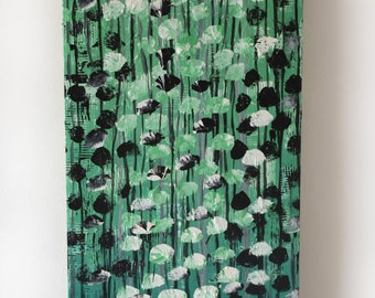 Harmony - Original painting by Kenneth Nkusi - Acrylics on canvas - African art - Green nature