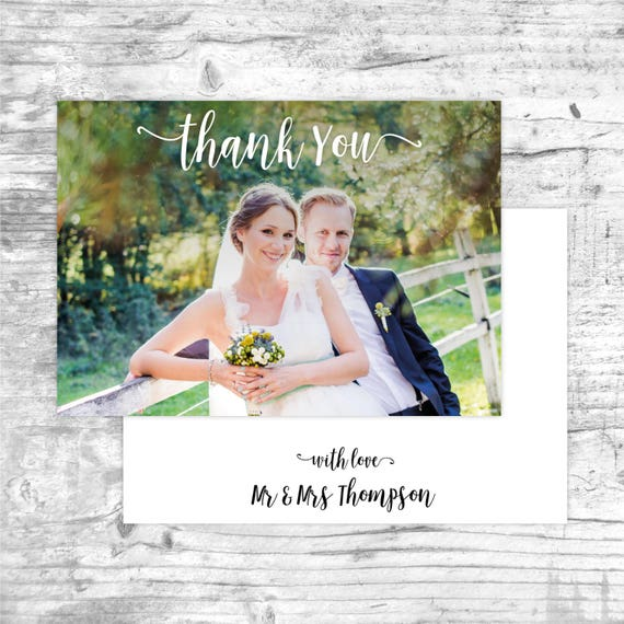 Thank you cards wedding, Thank you cards wedding photo, Wedding thank you cards pack, From mr and mrs, Modern wedding thank you cards, A6