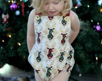 Christmas Romper, Holiday Romper, Christmas Bubble Romper, Baby Romper, Toddler Romper, Gender Neutral Romper, Sunsuit, Playsuit