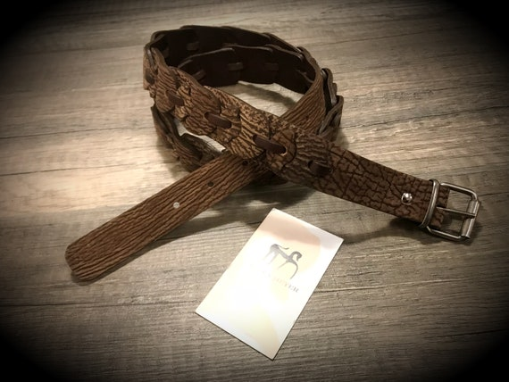 Genuine Shark Leather Belt width 30 mm. 1,15 inches colour CREME in photo can CHOOSE COLOR
