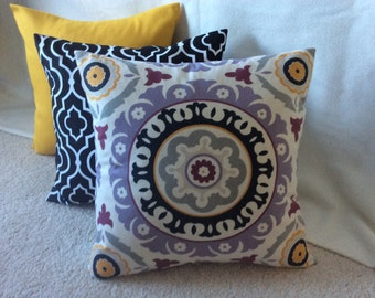 Suzani Print Mix Pillow Covers - Set of 3