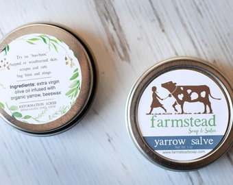 Yarrow Salve {Boo Boo Balm} // All-Purpose Skin Balm, Herbal Salve, Wildcrafted Salve