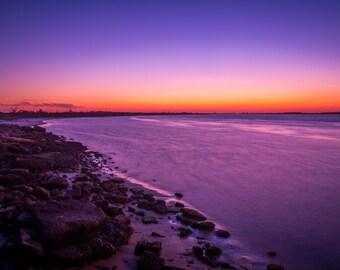 Last Glow of Sunset, fine art print,  long exposure, night shot, New York, Jones Beach, sunset photo, wall art