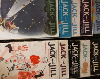 Jack and Jill Magazines Lot of 11 -- 1939 to 1943
