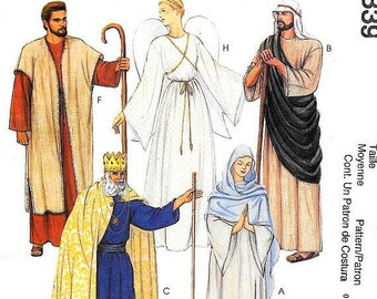 McCall's 2339 Size 30 - 44 Misses' and Men's  Christmas Costumes Nativity Sewing Pattern / Uncut/FF