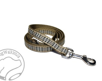 Pride of Scotland Gold Tartan Leash // Matching Tartan Dog Leash in all widths // custom lengths // Plaid Leashes // Handmade