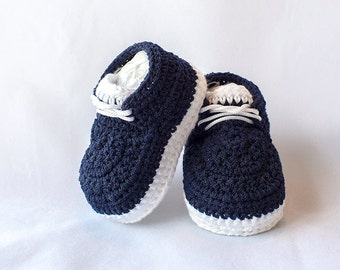 Crochet Baby Sneakers, Crochet Newborn Booties, Soft Sole Baby Shoes, Baby Boy Shoes, Infant Boy Booties, Crochet Booties, Newborn Boy Shoes