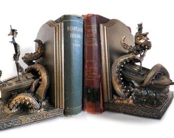 Kraken Bookends, Limited Edition
